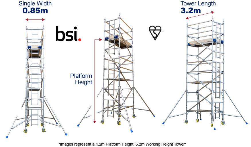LEWIS Industrial Single Width Scaffold Towers