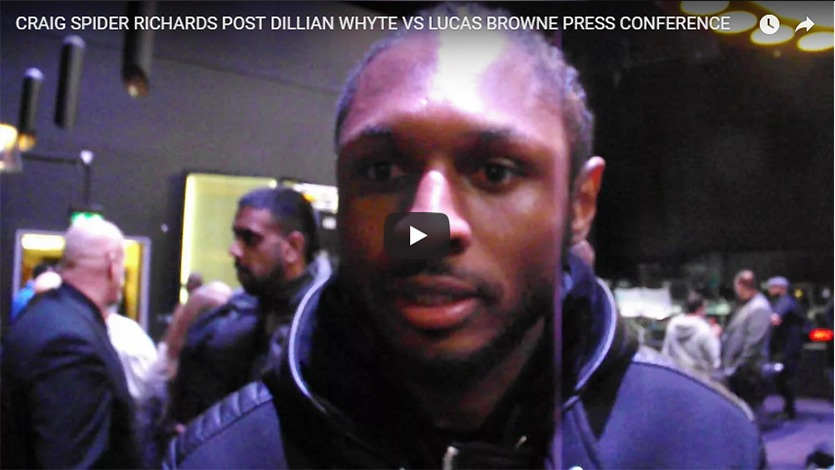 craig spider richards post dillian whyte vs lucas browne press conference