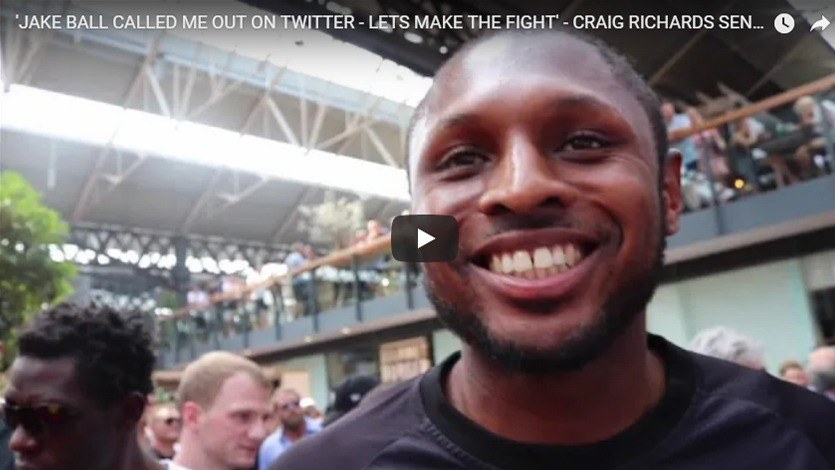 jake ball called me out on twitter lets make the fight craig richards sends message to rival